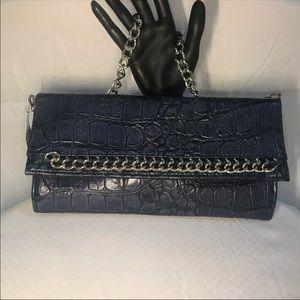 Handbags - NWT Blue Chain Clutch
